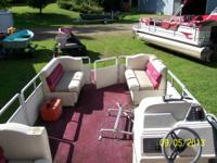 Pontoon boat 24' Harris Kayot 1995 with 40hp 2stroke