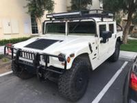 This is a 1995 AM General Hummer H1. Clean title in