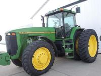This is a 1995 John Deere 8300 that is powered by a