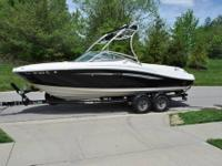 "1995 SeaRay 175 Bow Rider. The length is 18'2"" and has"