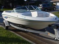 1995 Searay 185 Bowrider Sport, runs great, new carpet