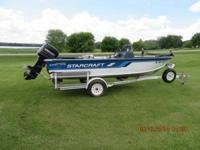 1995 Starcraft Superfisherman 160, 16.5 foot aluminum