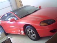 1995 Dodge Stealth, sport 2-dr, Red, grey interior,