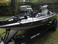1995 Stratos 201 Pro XL bass boat 20 ft with dual