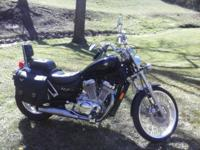 Great starter bike, 5 speed transmission, 800cc engine,