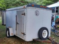 6x10 Enclosed Cargo Trailer. 2 swing open rear doors