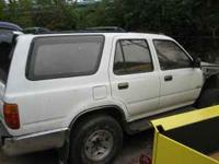 We have a 1995 toyota four runner that we are parting