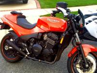 1995 triumph speed triple motorcycle. It has 24k miles