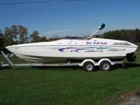 "1995 Wellcarft Scarab 291/2 ft in length 86"" beam. 502"