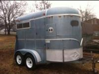 1995 WW Thoughbred 2 horse trailer. 7 foot tall and 5'8