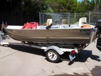 Klamath 14 DLX aluminum boat. This is an all bonded 14