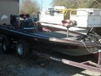 Ranger bass boat with a 150 Johnson fast strike in