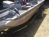 boat has no leaks motor runs real good, trolling motor,