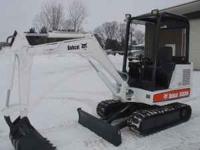 Bobcat mini excavator w/ good rubber tracks 2669 hours,