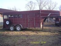 1996 Calico gooseneck horse/stock trailer. It's 16'