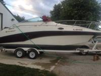 5.8 Volvo penta with dual new stainless props $1,800 on