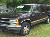 1996 Chevy Suburban 1500 with 250,620 miles. The dash