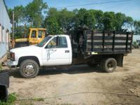 1996 Chevy C3500 Rack Body Dump Truck. This truck has