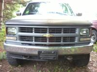 Chevy 3/4 Ton K2500 Extended Cab 4X4. Reliable work