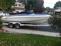 This 1996 Cobalt 200 is Navy/White with 500 hours. It's