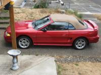 1996 Ford Mustang GT Convertible. 97529 original miles.