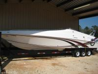 Step up to the plate on this 1996 Fountain 38SS. The