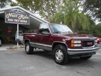 Options Included: N/ACLEAN 1996 GMC SIERRA SHORTBED