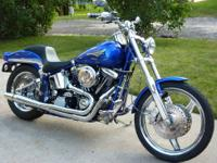 This Harley is fun to ride! It went through a custom