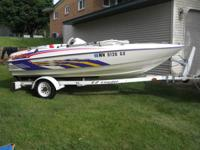 1996 Sunbird Sizzler 15' Jet Boat. interior is mint