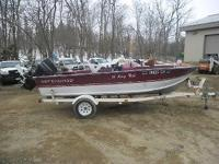 Up for auction is a 1996 Northwood 16 Master Fish w /
