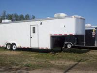 1996 Paceamerican 32' enclosed trailer gooseneck. It is