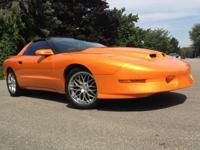 Orange 1996 Pontiac Firebird 525 RW HP! 6-speed 383