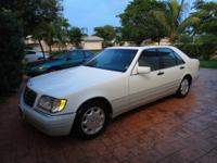 1996 S320 SEDAN MERCEDES BENZ FOR SALE WHITE WITH GREY