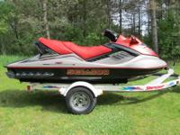1996 Sea Doo Challenger for sale with a trailer. Super