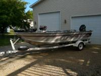 1996 Sea Nymph FM 164. 1996 Evinrude 40hp tiller