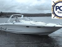 This 1996 Sea Ray 380 Sun Sport was repowered in 2006