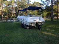 1996 SEARAY 240 SUNDECK BOAT WITH 2011 TRAILER 5.7