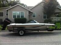1996 Champion 181 SX Elite fish and ski boat with