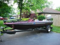 1996 Champion 190 Tournament SC Bass Boat, equipped
