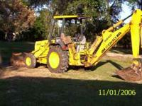 FOR SALE 1996 FORD 555D BACKHOE HAS REBUILT MOTOR AND