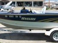1996 Sylvan Super Select 16 foot Fishing boat w/ cover