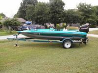 Description 1997 17' Bass Stream 170 with trailer &
