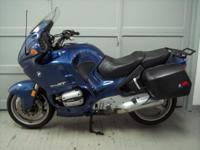 1997 BMW R1100RT, metallic blue with only 17897 miles!