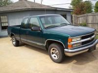 1997 silverado extra cab, rear drive, hunter green with