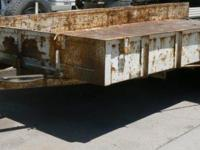 1997 Custom Built 2 Axle 20' Tilt Bed Trailer. $1999 Or
