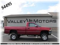 Options Included: 4x4, AM/FM, Anti-Lock Brakes, CD,