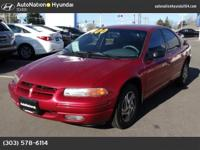 This 1997 Dodge Stratus comes with a CARFAX Buyback
