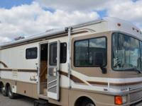 1997 Fleetwood Bounder 34J Class A Gas Motor Home. We