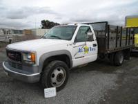 1997 Ford F-350 4X4 Stakeside Flat Bed Truck Diesel