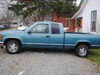 Green GMC 1500 Sierra Truck 2 wheel drive 90,000